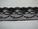 1 yard of black scalloped floral lace trim. 2 1/4 W L2-8
