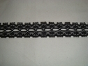 1 yard of black scalloped insert lace trim. 7/8 W L9-9