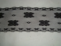 Black scalloped lace trim. 2 1/4 W L3-9