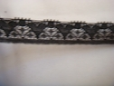 1 yard of black stretch lace trim 5/8 W S4-10