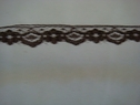 Brown narrow edge lace trim. 7/16 W L5-2