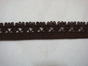 Dark brown elastic picot trim.1/2 w