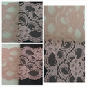 1 yard of dusty rose lace trim 5 1/2 inch wide. L4-6