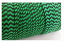 Emerald and black Chevron fold over elastic trim 5/8 inches wide.