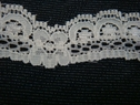 1 yard of Ivory color scalloped lace trim. 3/4 w L1-3