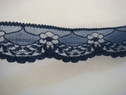 1 yard of midnight blue scalloped floral lace trim. 1 1/4 W L7-2