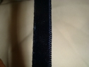 1 yard of midnight blue velvet ribbon trim 3/8 w
