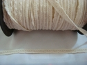 1 yard of natural color cotton crochet elastic trim. 5/16 w 500L
