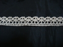 Natural Color Crotchet lace trim. 5/8 box#500L