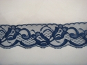 Navy blue scalloped floral lace trim. 2 W. L8-4