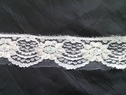 1 yard of off white beaded lace trim with sequins 1 1/4 inches L-10