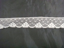 Off White Soft Scalloped Floral Lace Trim 1 w. L-2-2