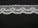 1 yard of pure floral white lace, double scalloped trim 1 5/8 .L7-9