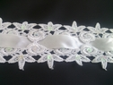 1 yard of pure white beaded instert sequins venice trim 2 1/2 inches
