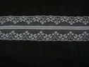 Pure White Double scalloped Lace trim, 1 1/2 w L1-10