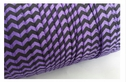 Regal purple with black Chevron fold over elastic trim 5/8 inches wide.