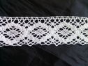 1 yard of white crochet clunny scalloped embroidered lace trim 2 inch