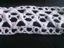 1 yard of white embroidred scalloped crochet clunny trim 1 1/4 inch