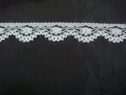 1 yard of white Narrow edge Lace trim. 5/8 L1-10