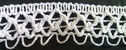 1 yard of white scalloped crochet clunny trim 3/4 inches