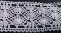 1 yard of white scalloped embroidered crochet clunny trim 1 1/2 inches