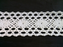 1 yard of white scalloped embroidered crochet clunny trim 1 3/4 inch