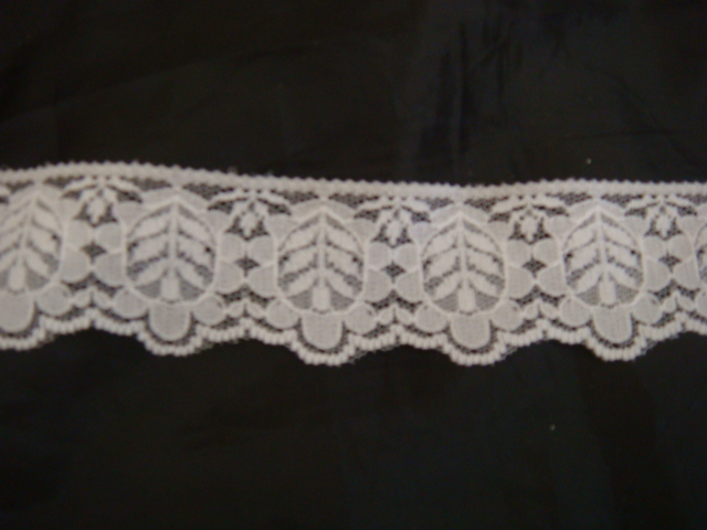 Scalloped Lace Trim by The Yard 1 Yard of White Scalloped Lace