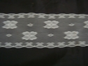 1 yard of white scalloped lace trim. 2 W L6-2