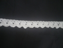 Off white rick rack crochet lace trim 13/16