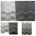 1 yard olive double scalloped florl design tulle trim 6 inch wide.
