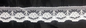 Poly Lace White Floral Design Unique Trim edge Lace 3/4 in