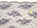 1 Yard Purple 2 way Stretch Fabric Double Scalloped 58-60 inches wide