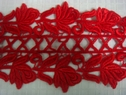 1 yard Red Venice Venise lace trim 4 inch  wide