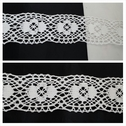 1 yard white cotton crochet clunny lace floral trim 1 3/4 inches wide.