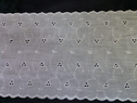 1 yard white cotton double scalloped embroidered eyelet 5 1/4inch