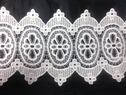 Ivoy rayon Venise Double Scalloped Lace Trim Floral Design 8 inch Wide
