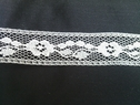 White Floral Design Lace trim. 3/4 inches wide. L 5-4