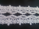 White scalloped embroidered floral design venice lace trim 2