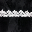 White Venice Lace Double Scalloped Unique Design 1 inch Wide