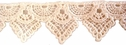 White Venise Venice Triangle Lace Trim  1 1/8 wide