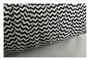 1 yard chevron white with black fold over elastic trim 5/8 inches wide.