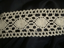 1 yd Crochet Natural Colored Lace 1 3/4 inches Wide