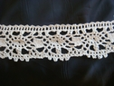 Natural color crochet lace trim 1 3/4 inch wide