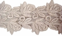 1 Yd pure white Venise double rose scalloped lace trim 2 1/4