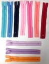 1 Zipper Sky Blue Navy Pink Peach Lavender Neon Orange 6inch