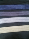 10 yards of beige,dark lavender,dark gray,or slate blue fold over trim 5/8 inch