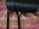100 yards Roll Shiny Black Elastic Bra Strap 3/8 W