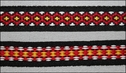 Black w/ Colored Design Jacquard Ribbon Trim 5/8W