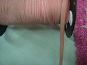 10Y Dark Dusty Rose Lip Cord Elastic 3/8 W