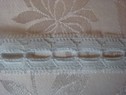 1 Y Light Blue Insert Lace Trim 3/4 W
